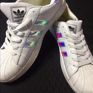 Adidas holographic women's shoe new -READ-